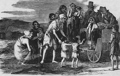 History- In 1845 was a large period of disease and starvation. It was called the Irish Potato Famine. Ireland's potato famine killed much of Ireland's population and caused many survivors to leave Ireland. It ended in The Irish Potato Famine, Irish Famine, Irish Potatoes, Irish People, American History, British History, Past, Illustration, December