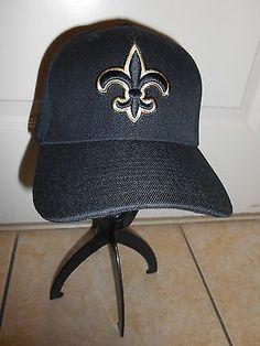 New Orleans Saints NFC South Black Velcro Back Hat Cap NFL Football Fleur-de-lis
