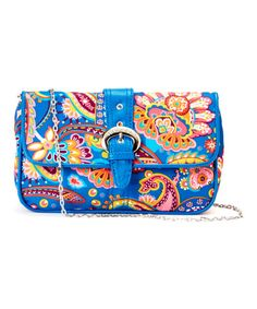 Love this Cobalt & Coral Cassandra Paisley Buckle Clutch by HADAKI on #zulily! #zulilyfinds