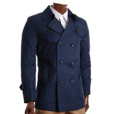 Shop FLATSEVEN Mens Slim Fit Designer Casual Trench Coat Dark Beige, Size L. Uk Fashion, Fashion Design, Fashion Ideas, Fashion Trends, Trench Coat Men, Designer Clothes For Men, Designer Clothing, Gentleman Style, Slim Man