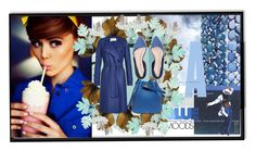"""""""A BLUE MOODS"""" by princeferdous ❤ liked on Polyvore featuring Monki, Retrò, Harris Wharf London and John Lewis"""