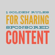 How to Make Money Sharing Sponsored Content Without Annoying Your Followers