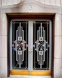 new ideas art deco door architecture Cool Doors, Unique Doors, Motif Art Deco, Art Deco Design, Art Nouveau, Art Deco Door, Estilo Art Deco, Modernisme, Art Deco Stil