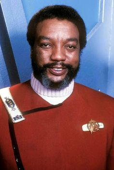 "Captain Terrell (Paul Winfield) from ""Star Trek II: The  Wrath Of Khan"", 1982."