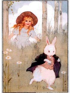 マーガレットタラントの不思議の国のアリスの塗り絵の下絵、画像