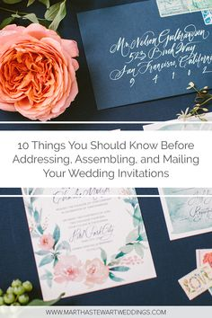 10 Things You Should Know Before Addressing Assembling And Mailing Your Wedding Invitations Wedding Address Addressing Wedding Invitations Wedding Invitations