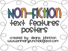 14 non-fiction text features posters!