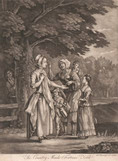 Andreas van Rymsdyck, active 1767- died 1786, The Country Maid's Fortune Told, , Mezzotint, Yale Center for British Art, Paul Mellon Fund r...