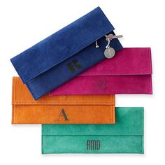 Suede Boho Envelope Clutch, Bright Colors | Mark and Graham