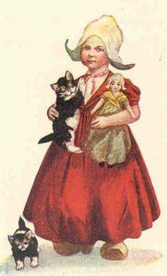 Girl Doll Cat