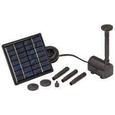Solar powered pump; for the majority of pinners that don't have electrical power in our yards!