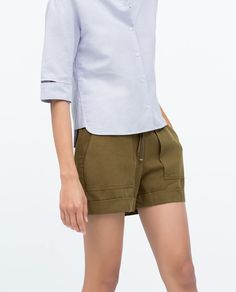 Image 4 of SHORTS WITH BIG POCKETS from Zara