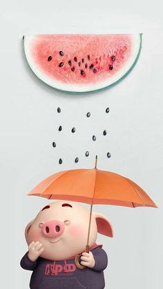 Baby Cute Illustration Animals Ideas For 2019 Pig Wallpaper, Disney Wallpaper, Flower Wallpaper, Iphone Wallpaper, Cute Piglets, 3d Art, Pig Drawing, Pig Illustration, Mini Pigs