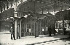 """Berlin 1902 Fahrkartenhaeuschen der Berliner Hoch- und Untergrundbahn Gesellschaft-Haltestelle""""Bahnhof Zoologischer Garten"""" 1928 abgerissen"""