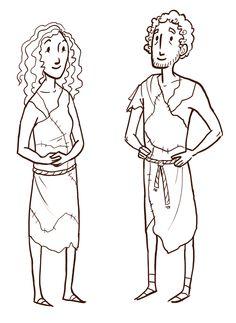 Adam & Eve pattern | TruBlessings: 3s | God Made People based on Genesis 1:26–31; 2:4–25 | Disciplr.com | Instructions: https://disciplr.com/app/curriculum/5/lesson/450