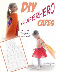 Christys Customs and the Little House by the Olive Tree: DIY Superhero Capes {Printable Templates Included!} yr olds) Superhero Capes, Superhero Birthday Party, Birthday Ideas, 4th Birthday, Superhero Favors, Superman Party, Birthday Parties, Projects For Kids, Sewing Projects