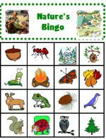 CampingwithGus.com Kids Natures Bingo card - entire site is full of camping tips.  Includes printables for kids for bingo, scavenger hunt, etc.