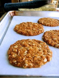The Bojon Gourmet: Anzac Biscuits (in the British sense of the word) Galletas Cookies, Cake Cookies, British Biscuits, Bojon Gourmet, Popular Recipes, Healthy Snacks, Food And Drink, Cooking Recipes, Tasty