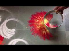 Easy, small and unique peacock rangoli   Innovative rangoli designs by Poonam Borkar - YouTube