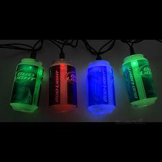 black light party ideas | Bud Light Party String Lights Details: