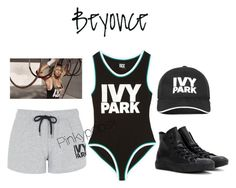 """""""Ivy Park 1"""" by pinkypopsx on Polyvore featuring Ivy Park, Topshop and Converse"""