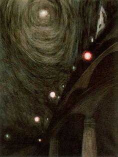 "Leon Spilliaert, ""Claro de luna y luces"""