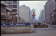 West Berlin - February 1982 - Friedrichstrasse at Hallesches Tor West Berlin, Berlin Wall, Berlin Berlin, East Germany, Berlin Germany, Old Pictures, Old Photos, Berlin Ick Liebe Dir, Bahn Berlin