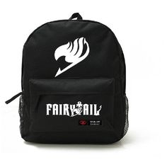 7 Weapons Fairy Tail Natsu Magic Guild Logo Unisex School Bag Backpack ($28) ❤ liked on Polyvore featuring fairy tail