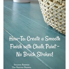 How to create a super smooth finish with chalk paint on the blog! #anniesloan #reloved #chalkpaint #vintage #painted #howto #style #design #beforeandafter #homedecor #diy #transformation #tutorial