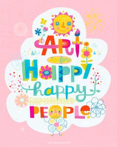 jill howarth's happy quote for happy happy art collective