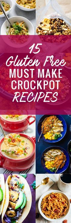 15 Gluten Free MUST MAKE Crock Pot Recipes! Trust me, you will want to make every one of these delicious, easy to make gluten free slow cooker recipes.