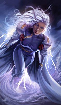 Superhero Suits, Comic Books Art, Comic Art, Book Art, Anime Comics, Marvel Comics, Storm Cosplay, Storm Xmen, Marvel Heroes