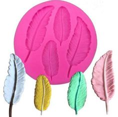 DIY Four leaf shape to the mold silicone kitchen restaurant bar non-stick cake decoration fondant mold tool Cake Decorating With Fondant, Cake Decorating Tools, Fondant Molds, Cake Mold, Cake Candy, Candle Molds, Feather Design, Food Crafts, Resin Crafts