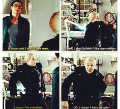 Gail peck rookie blue. Hilarious. The writer's just need to put Gail and Holly on a ship and let them set sail into the sunset.