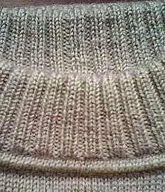 оформление горловины свитера