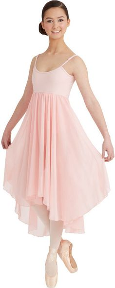 Capezio BG001 - Empire Waist Long Skirt Camisole Ballet Dress Womens - Dancewear - Dresses - Capezio - Dancewear Centre Canada Online - 3