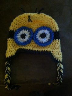 Dispicable me crochet hat $25