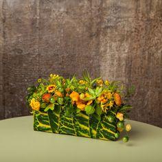 botanical purse with croton leaves, Francoise Weeks