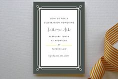 Lattice Party Invitations by Marabou at minted.com