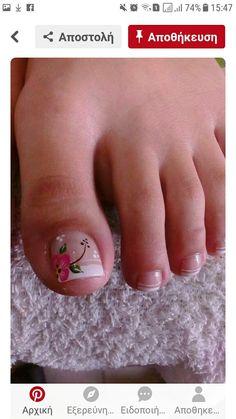 Pedicure Essentials and Designs Pretty Toe Nails, Cute Toe Nails, Pedicure Nail Art, Toe Nail Art, Feet Nail Design, Cruise Nails, Feet Nails, Toenails, Toe Nail Designs