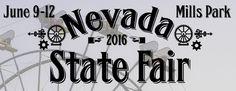 Our new 2016 Nevada State Fair logo! Mill Park, Nevada State, Logo, Logos, Environmental Print