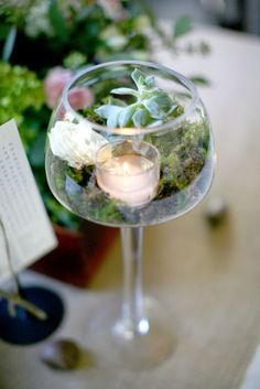 Diy centerpieces 357543657897480534 - Making your own DIY wedding centerpieces will not only give you the opportunity to get creative, but your budget will thank you for it. Source by chickenen Unique Wedding Centerpieces, Succulent Centerpieces, Diy Centerpieces, Wedding Decorations, Table Decorations, Terrarium Table, Terrarium Wedding, Glass Terrarium, Terrarium Centerpiece