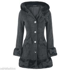 Button Full Length Fleece Outdoor Coats & Jackets for Women Mode Rockabilly, Rockabilly Fashion, Johnny Depp, Style Casual, My Style, Coats For Women, Jackets For Women, Mode Alternative, Outdoor Coats