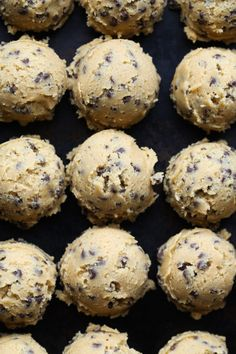 My most favorite chocolate chip cookie recipe EVER! This recipe is classic! I love using mini chocolate chips and coarse sea salt to make them salty/sweet perfection! Best Chocolate Chip Cookie Recipe Ever, Favorite Cookie Recipe, Best Cookie Recipes, Best Dessert Recipes, Fun Desserts, Candy Recipes, Frozen Cookie Dough, Frozen Cookies, Cookie Dough To Freeze