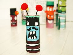 toilet paper roll monsters.... IMG_3830 by mealisab, via Flickr