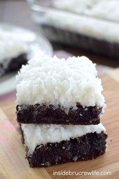 Fudgy Nutella brownies with a coconut frosting will get rave reviews from…