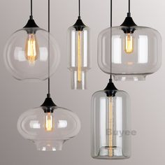 MODERN FASHION INDUSTRIAL GLASS SHADE LOFT CAFE PENDANT LIGHT CEILING LAMP