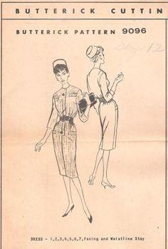 Vintage 60s Wiggle Dress Pattern Butterick 9096 Uncut by Revvie1, $8.00