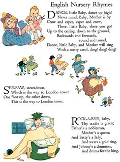 Nursery Rhyme Printables Welcome to Dover Publications