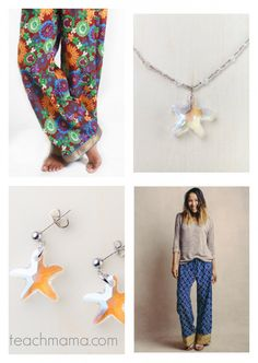 gifts that give back --> ideas for kids and family | HOW cute are these pants, earrings, and necklace? LOVE them. And? purchasing them packs a powerful punch.